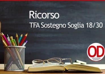 Ricorso TFA Sostegno Soglia 18/30