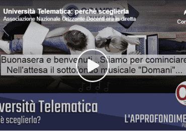 Università Telematica: perchè sceglierla – Rivedi la Puntata 5 del 4 Giugno